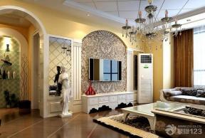 欧式风格客厅电视背景墙装修效果图欣赏