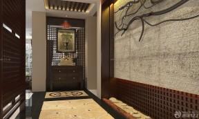 新中式风格鞋柜屏风装修效果图片