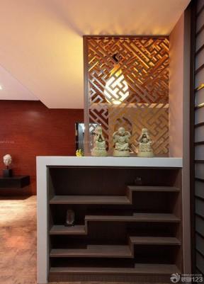 90平米三室一厅室内鞋柜屏风装修图片