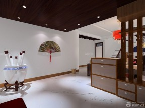 中式风格鞋柜屏风装修效果图片