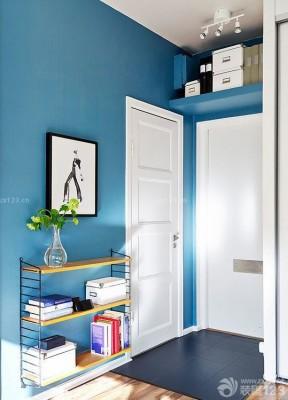 现代简约家装蓝色墙面装修效果图片