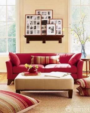 简欧风格客厅沙发装修实景图大全