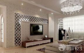 现代简约家装客厅电视背景墙