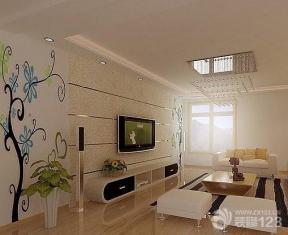 现代简约客厅电视背景墙装饰效果图