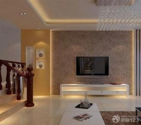 简约家装设计大客厅电视背景墙装饰效果图