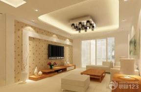 简约室内设计客厅电视背景墙装潢效果图