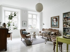 90平两室一厅家庭室内装修样板房