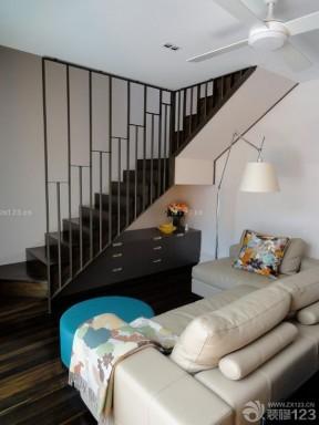 现代家装风格90平米复式楼装修图