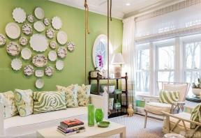 唯美两居室客厅沙发背景墙装修效果图大全