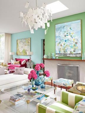 唯美简欧式风格两居室装修效果图大全
