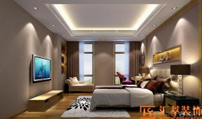 奢华简约时尚别墅室内20平米卧室装修设计效果图