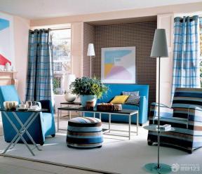 地中海风格小户型房屋客厅装修效果图