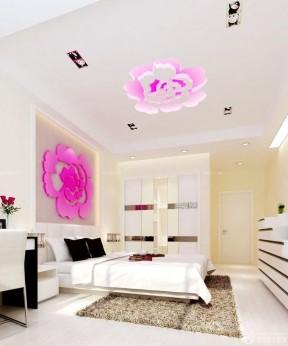90平两居卧室床头背景墙装修效果图