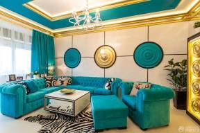 唯美时尚90平方三室一厅组合沙发设计效果图