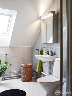 现代简约小户型卫生间设计装修图片