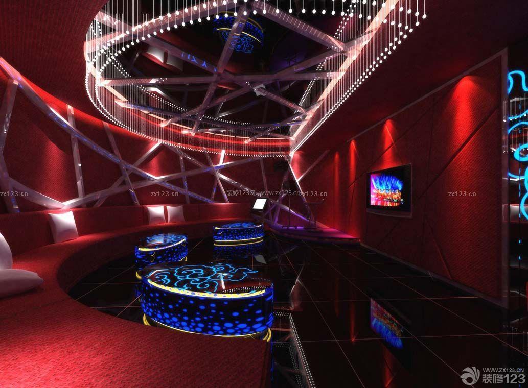 ktv大厅红色墙面设计图