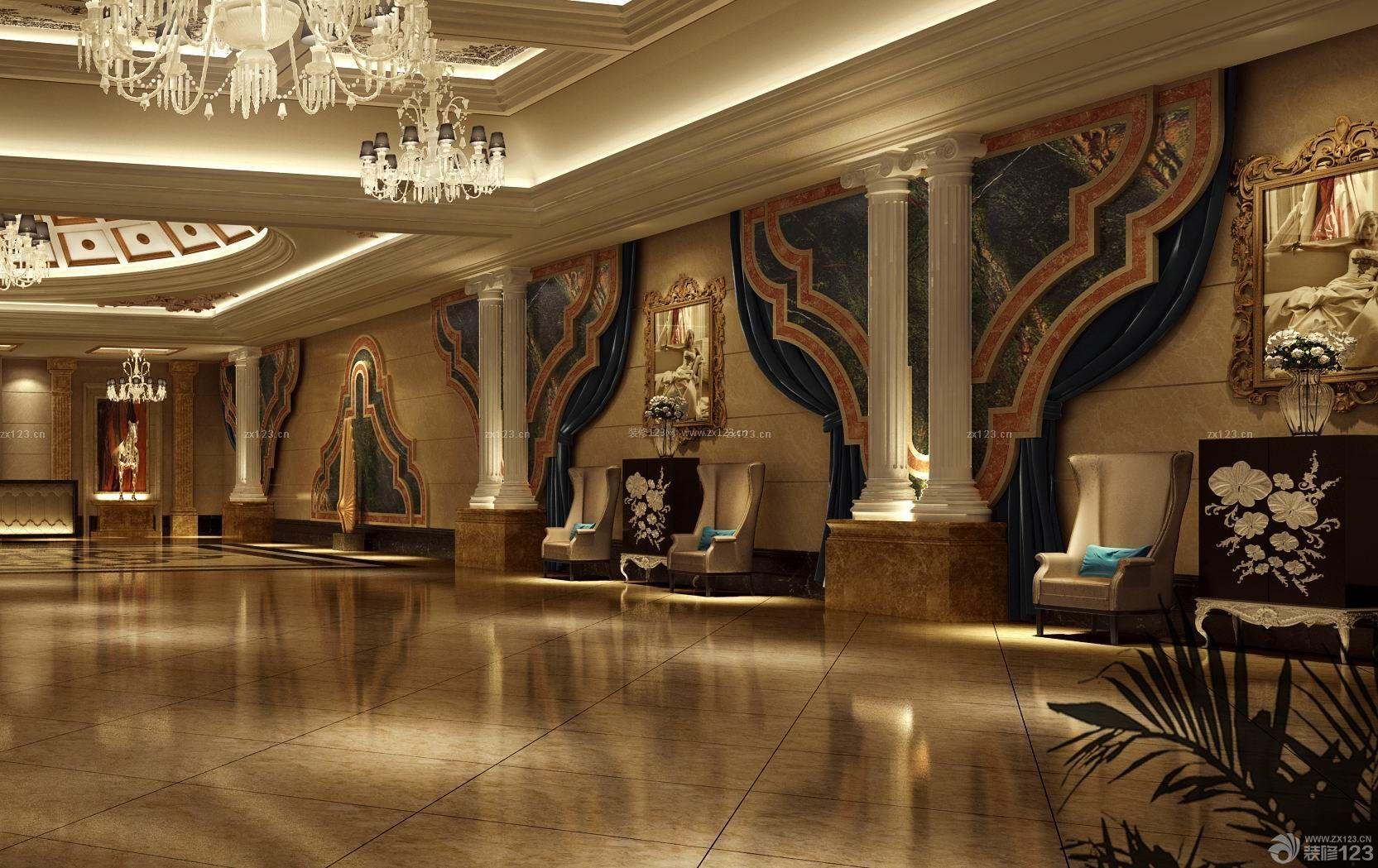 ktv大厅墙面设计实景图