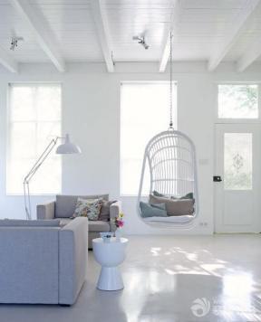 现代简约风格客厅秋千沙发装修设计效果图
