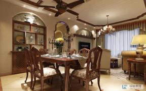 美式风格室内装修餐厅效果图