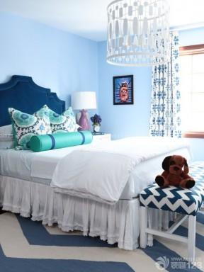 美式风格家居90后女生卧室装修图片