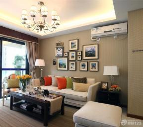 现代美式客厅装潢效果图欣赏