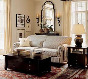现代美式家装客厅设计实景图