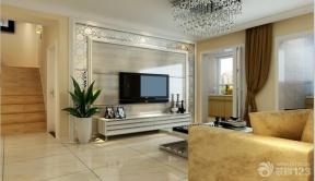 现代简约风格电视背景墙家居客厅装修效果图