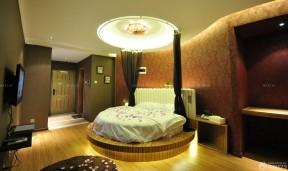 小户型酒店式公寓圆床设计效果图