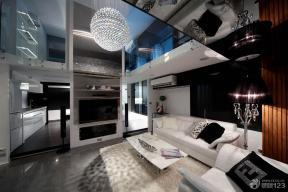 现代设计风格斜顶客厅装修效果图