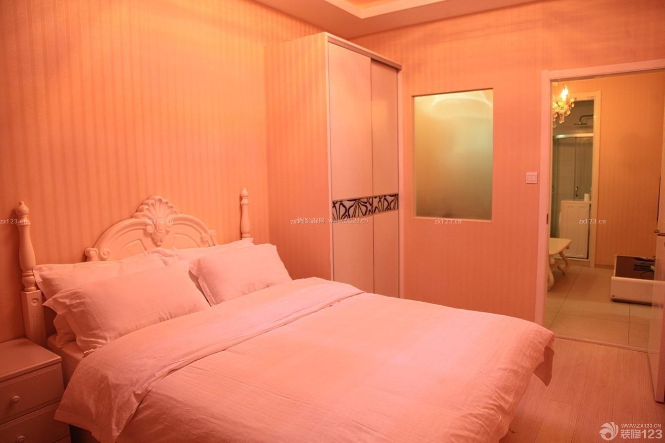 小户型酒店式公寓田园风格床设计图
